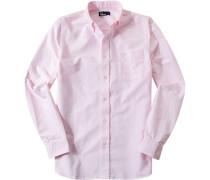 Herren Hemd Oxford rosa meliert
