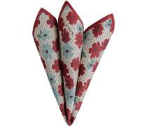 Accessoires Einstecktuch Seide rot-hellblau floral