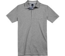 Polo-Shirt Polo Modern Fit Baumwoll-Piqué hellgrau meliert