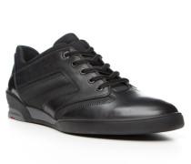 Herren Schuhe AMES Kalbleder-Textil schwarz