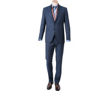 Anzug Shaped Fit Schurwolle Super110 dunkelblau