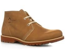 Schuhe Stiefeletten Nappaleder natur