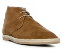 Herren Schuhe Desert Boots Veloursleder braun
