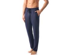 Herren Schlafanzug Pyjamahose Micromodal nachtblau