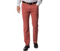 Jeans Regular Fit Baumwoll-Stretch ziegelrot