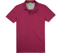 Polo-Shirt Polo, Regular Fit, Baumwoll-Pique, brombeere