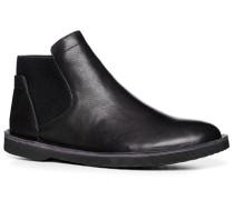 Herren Schuhe Stiefeletten Leder schwarz schwarz,schwarz