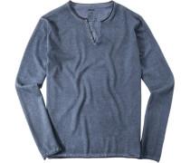 Herren Pullover Baumwolle graublau