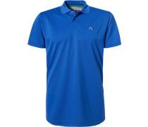 Herren Polo-Shirt Polo Coolmax® azurblau