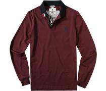 Polo-Shirt Polo, Baumwoll-Jersey, bordeaux