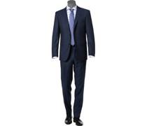 Anzug Modern Fit Schurwolle GUABELLO dunkelblau gemustert
