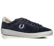 Schuhe Sneaker, Veloursleder, navy-weiß
