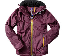 Jacke Slim Fit Microfaser wattiertt bordeaux