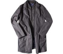 Mantel Baumwolle dunkelgrau ,blau
