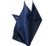 Herren Accessoires  Einstecktuch Baumwolle navy blau