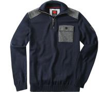 Pullover Troyer Merino Navy