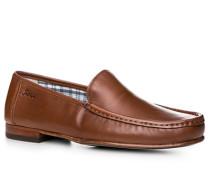 Schuhe Slipper Nappaleder cognac