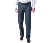 Hose Hoss Classic Fit Baumwolle jeansblau