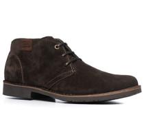 Herren Schuhe Desert Boots Veloursleder kaffeebraun braun,grau