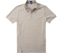 Polo-Shirt Polo, Modern Fit, Baumwolle, greige