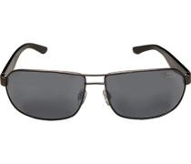 Herren Brillen Sonnenbrille Metall-Kunststoff anthrazit-grau