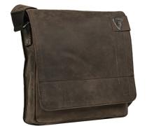 Tasche Messenger Bag Rindleder dunkelbraun