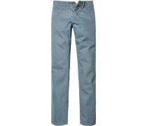 Herren Jeans Straight Fit Baumwoll-Stretch grau-blau