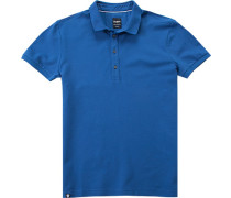 Polo-Shirt Polo Slim Fit Baumwoll-Piqué royalblau
