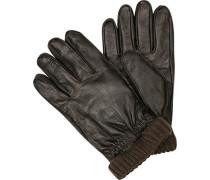 strellson Handschuhe Schafleder dunkelbraun