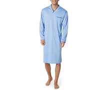 Nachthemd Baumwolle hellblau