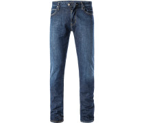 Jeans Slim Fit Baumwoll-Stretch indigo