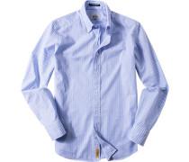 Hemd Regular Fit Baumwolle himmelblau gestreift