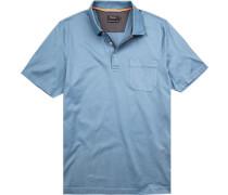 Polo-Shirt Polo Baumwolle mercerisiert hellblau