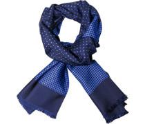 Herren  Schal Seide blau gemustert