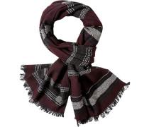 Schal, Wolle, dunkelrot-dunkelblau gestreift