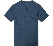 T-Shirt Regular Fit Baumwolle rauchblau