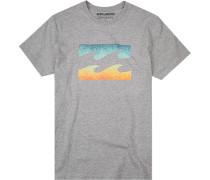 T-Shirt Core Fit Baumwolle meliert