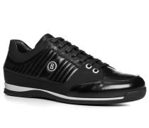 Herren Schuhe Sneaker Leder-Mix schwarz schwarz,schwarz