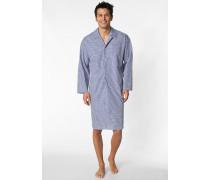 Herren Nachthemd Baumwolle blau kariert