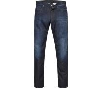 Blue-Jeans Slim Fit Baumwoll-Stretch indigo