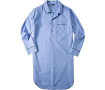 Nachthemd, Baumwolle, himmelblau