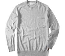 Pullover, Baumwolle, hellgrau