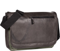 Tasche Messenger Bag, Kunstleder, dunkelbraun