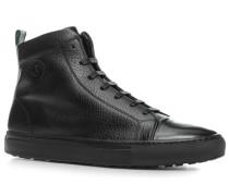 Herren Schuhe Sneaker Hirschleder schwarz braun