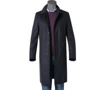 Mantel Schurwolle-Kaschmir dunkelblau
