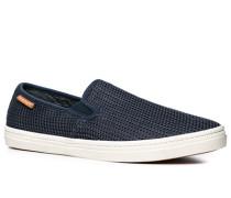 Schuhe Slip Ons Textil marineblau