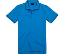 Polo-Shirt Polo Baumwoll-Pique azurblau