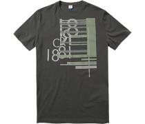 T-Shirt Baumwolle dunkelgrau