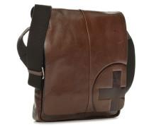 Herren Tasche strellson Messenger Bag Rindleder braun