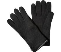 Herren strellson Handschuhe Merino-Mix ThinsulateT schwarz